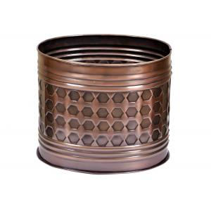 Blessed RVMP-3065 Brown Metal Planter, Height: 10 Inch
