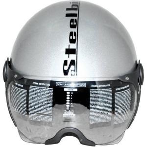 Steelbird SB27 Style Clear Visor Silver Open Face Motorbike Helmet, Size: Large