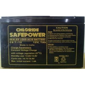 Exide Chloride Safe Power Battery 12V 7Ah UPS Battery, CS 7-12