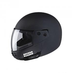 Studds Ninja Pastel Matte Black XL Full Face Helmet with Free Anti-Pollution Mask