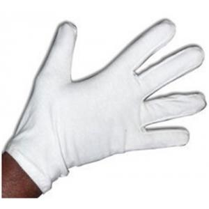Hansafe White Cotton Hosiery Gloves, Size: 8 Inch (Pack Of 10)
