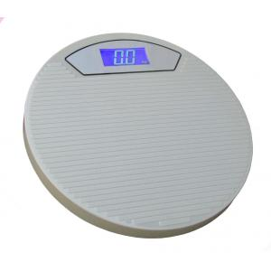 Weightrolux Digital Personal Body Weight Electronic Bathroom Weighing Scale, ABS-Round-Grey
