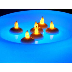 Tucasa Water Touch Floating Yellow LED Candle Light (Set Of 6), DW-169