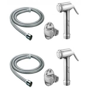 Snowbell Lite Health Faucet With 1 Meter Flexible Tube & Wall Hook (Pack of 2)