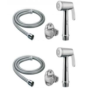 Snowbell Robin Health Faucet With 1 Meter Flexible Tube & Wall Hook (Pack of 2)