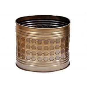 Blessed RVMP-3066 Golden Metal Planter, Height: 10 Inch
