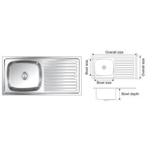 Nirali Elegance Glossy Finish Kitchen Sink, Bowl Size: 560x410x241 mm