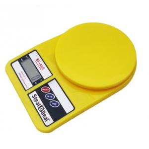 Stealodeal 10 Kg Yellow Electronic Kitchen Weighing Scale, SF-400