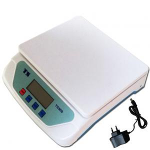 Stealodeal 25Kg White Electronic Digital Weighing Scale with Adapter, TS-500