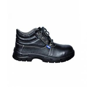 Allen Cooper AC-7003 Steel Toe Black Safety Shoes, Size: 8