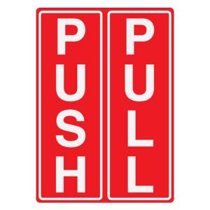 Safety Sign Store Push & Pull Sign Board, FS301-A6PC-01, (Pack Of 5)