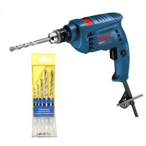 Bosch Combo of GSB 451 450W Professional Impact Drill & 5 Pieces Drill Bit Set