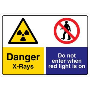 Safety Sign Store Danger: X-Rays Sign Board, CW440-A3PC-01