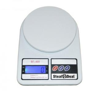 Stealodeal 7 Kg White Digital Kitchen Weighing Scale, SF-400