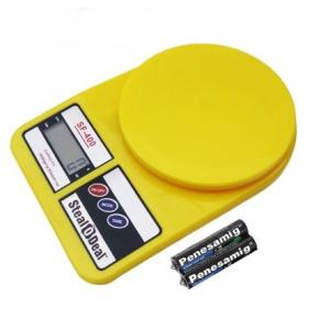 Stealodeal 10 Kg Yellow Electronic Kitchen Weighing Scale With...