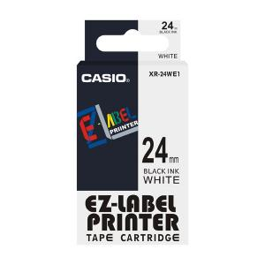 Casio XR-24WE1 Label Printer Tape Cartridge, Length: 8 M