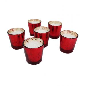 Tezerac Rose Red Mercury Candles (Pack Of 6), LL- 128