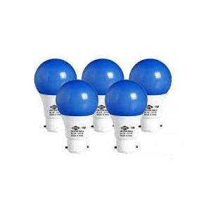 HPL 1W B-22 Blue Decor Ball LED Bulbs (Pack Of 5)