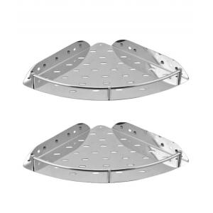 Kamal Stainless Steel Corner Shelf 9 Inch, ACC-1185-S2 (Pack Of 2)