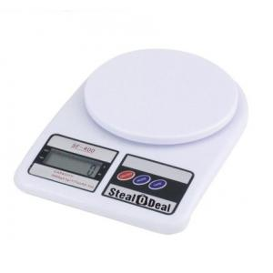 Stealodeal 5 Kg White Electronic Kitchen Weighing Scale, SF-400, Weight: 300 g