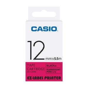 Casio XR-12FPK Label Printer Fluorescent Tape Cartridge, Length: 5.5 M