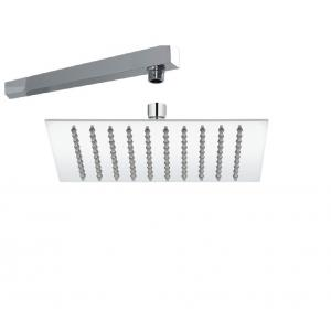 Sunrise 10x10 Inch Steel Shower Head With 12 Inch Long Shower Arm