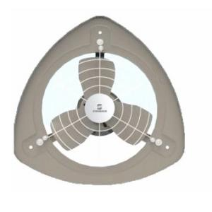 Standard Refresh Air-SP Metal Exhaust Fan, Sweep: 230 mm, Colour: Grey