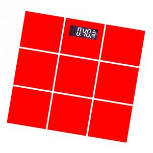 Weightrolux Digital Personal Body Weight Electronic Glass Bathroom Weighing Scale, EPS-2009Red