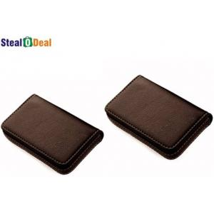 Stealodeal Full Brown Double Leather Card Holder (Pack of 2)