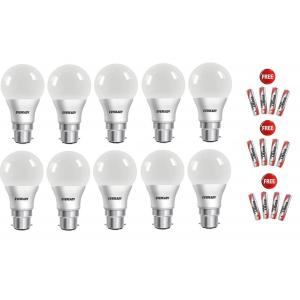 Eveready 9W Cool Day Light LED Bulbs 6500K (Pack Of 10)