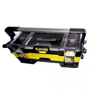 JCB Cantilever Organizer Tool Box with 3 Trays, 22025091