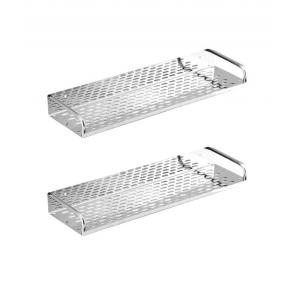 Kamal Stainless Steel Straight Shelf 16 Inch, ACC-1186-S2 (Pack Of 2)