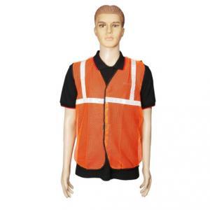 Safari 1 inch Orange Net Reflective Safety Jacket, 60 GSM