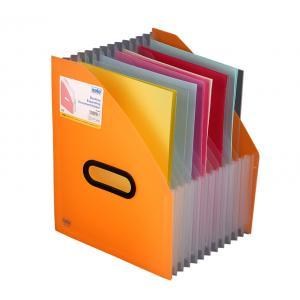 Solo Desktop Expanding Document Holder, FS401, Size: A4, Colour: Frosted Orange