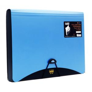 Solo 6+1 Pocket Full Bottom Expanding File With 1 Inch Case, EF302, Size: A4, Colour: Blue