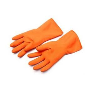 Sensuous Orange Rubber Hand Gloves (Pack of 10)