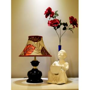 Tucasa Table Lamp With Poly Silk Shade, LG-438, Weight: 450 G