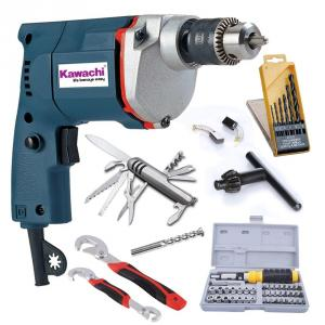Kawachi 300W Powerful Electric Drill Machine With Bits And Socket...