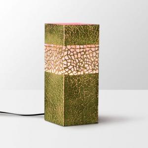 Height Of Design Pink And Golden Brick Shaped Pillar Lamp, HODTL53