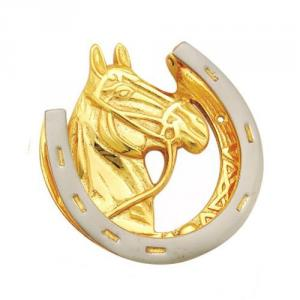 SmartShophar Gold Silver Horse Door Knocker, 50601-DKNH-GS05, Size:...