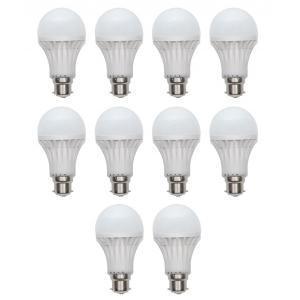 Homes Decor 9W B-22 White PVC LED Bulb (Pack Of 10)