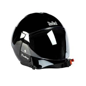 Steelbird SB33 Eve Dashing Black Open Face Helmet, Size: Large