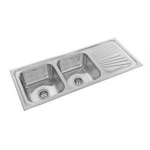 Buy neelkanth nk dbsd19g glossy double bowl single drain board neelkanth nk dbsd20m matt double bowl single drain board stainless steel sink workwithnaturefo