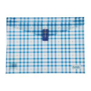 Saya Blue Clear Bag Superior, Dimensions: 340 X 15 X 350 Mm,...