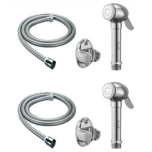 Snowbell Dolphin Health Faucet With 1 Meter Flexible Tube & Wall Hook (Pack of 2)