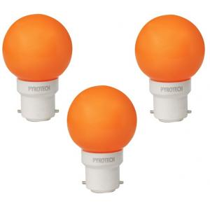Pyrotech 0.5W LED Deco Orange Bulb , PELB0.5X3O (Pack Of 3)