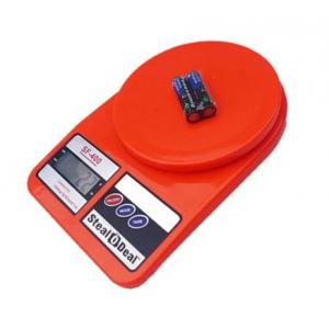 Stealodeal 7 Kg Red Electronic Kitchen Weighing Scale With Inbuilt...