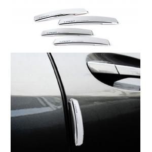 I-Pop Silver Car Door Scratch Guard Protector (Pack Of 4)