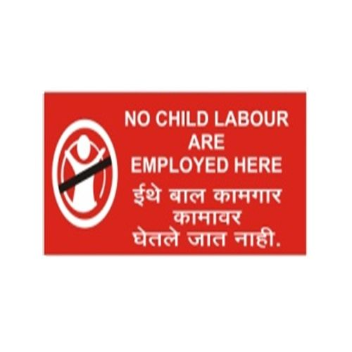 buy signtech no child labour sign board in english amp marathi gs 10b at best price in india