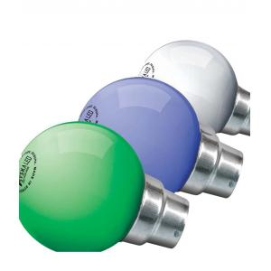 Syska 0.5W B-22 White, Green And Blue LED Bulbs (Pack Of 3)
